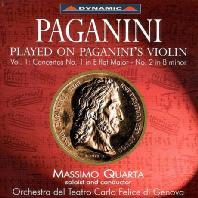 PLAYED ON PAGANINI`S VIOLIN VOL.1: VIOLIN CONCERTOS/ MASSIMO QUARTA [파가니니 바이올린으로 연주한 파가니니 음악 1집: 바이올린 협주곡 1,2번]