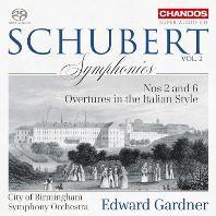 SYMPHONIES VOL.2 - NOS.2 & 6, OVERTURES IN THE ITALIAN STYLE/ EDWARD GARDNER [SACD HYBRID] [슈베르트: 교향곡 2, 6번 & 2개의 이탈리아풍 서곡 - 에드워드 가드너]