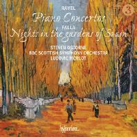 PIANO CONCERTOS & NIGHTS IN THE GARDENS OF SPAIN/ STEVEN OSBORNE, LUDOVIC MORLOT [라벨: 피아노 협주곡 & 파야: 스페인 정원의 밤 - 오스본 & 모를로]