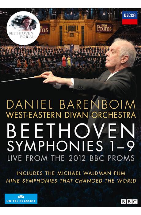 SYMPHONIES 1-9: LIVE FROM THE 2012 BBC PROMS/ DANIEL BARENBOIM [다니엘 바렌보임 & 서동시집 오케스트라: 베토벤 교향곡 전곡 공연실황 & 다큐멘터리]
