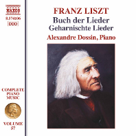 COMPLETE PIANO MUSIC VOL.57: BUCH DER LIEDER/ ALEXANDRE DOSSIN [리스트: 노래의 책 - 알렌상드르 도신]