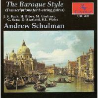 THE BAROQUE STYLE/ ANDREW SCHULMAN