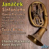 SINFONIETTA, 4 OPERA PRELUDES/ CHARLES MACKERRAS, KAREL ANCERL [야나체크: 신포니에타, 4개의 오페라 전주곡 - 맥케라스]