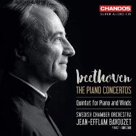 PIANO CONCERTOS NOS.1-5 & QUINTET OP.16/ JEAN-EFFLAM BAVOUZET [SACD HYBRID] [베토벤: 피아노 협주곡 전곡, 피아노와 관악을 위한 5중주 - 장 에프랑 바부제]