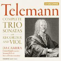 COMPLETE TRIO SONATAS WITH RECORDER AND VIOL/ DA CAMERA [텔레만: 리코더와 비올 트리오 소나타집 - 다 카메라]