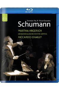 SYMPHONY NO.4 & PIANO CONCERTO/ MARTHA ARGERICH, RICCARDO CHAILLY [슈만: 교향곡 4번, 피아노 협주곡 1번, 사육제 모음곡 - 아르헤리치, 샤이]