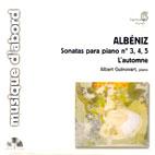 SONATAS PARA PIANO NO.3 & 4 & 5/ ALBERT GUINOVART