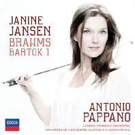 BRAHMS & BARTOK: VIOLIN CONCERTOS/ ANTONIO PAPPANO[브람스 & 바르톡: 바이올린 협주곡 - 야니네 얀센]