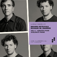 VIOLIN SONATAS/PIERRE FOUCHENNERET, ERIC LE SAGE [브람스: 바이올린 소나타 - 실내악 전곡 녹음 프로젝트 4집 | 에릭 르 사쥬]