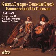 GERMAN BAROQUE: FROM HAMMERSCHMIDT TO TELEMANN/ JORDI SAVALL, NIKOLAUS HARNONCOURT [독일 바로크 작품집]