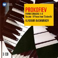 PIANO SONATAS 1-9, TOCCATA, 9 PIECES FROM CINDERELLA/ VLADIMIR OVCHINNIKOV [ORIGINAL JACKET] [프로코피에프: 피아노 소나타 전곡, 토카타 외 - 오브친니코프]