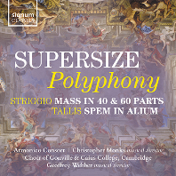 SUPERSIZE POLYPHONY/ GEOFFREY WEBBER [슈퍼사이즈 폴리포니 - 탈리스: 40성의 모테트 & 스트리지오: 40성부와 60성부 미사곡]