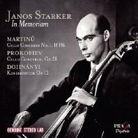 IN MEMORIAM JANOS STARKER: CELLO MASTERWORKS OF THE 20TH CENTURY/ JOHN NELSON [야노스 슈타커를 추모하며]