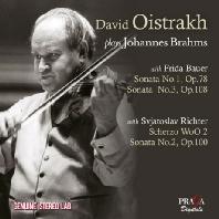 PLAYS BRAHMS/ FRIDA BAUER, SVIATOSLAV RICHTER [다비드 오이스트라흐가 연주하는 브람스: 바이올린 소나타]