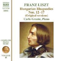 HUNGARIAN RHAPSODIES NOS.12-17/ CARLO GRANTE [리스트: 피아노 작품 전곡 48집 - 카를로 그란테]