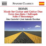 MUSIC FOR GUITAR AND GUITAR DUO/ ALEX GARROBE, JOSE ANTONIO ESCOBAR [호아킴 홈즈: 독주 기타와 기타 듀오를 위한 작품 전집 - 가로베 & 에스코바르]