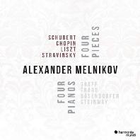 FOUR PIECES - FOUR PIANOS [알렉산더 멜니코프: 4개의 피아노 솔로곡을 위한 4종류의 피아노: 슈베르트, 쇼팽, 리스트, 스트라빈스키]