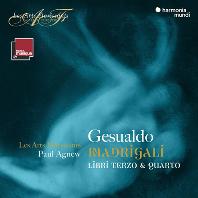 MADRIGALI BOOKS 3 & 4/ LES ARTS FLORISSANTS, PAUL AGNEW [제수알도: 마드리갈 3, 4권 - 레자르 플로리상, 폴 애그뉴]