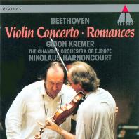 VIOLIN CONCERTOS & ROMANCES/ GIDON KREMER, NIKOLAUS HARNONCOURT [베토벤: 바이올린 협주곡 & 로망스 - 기돈 크레머]