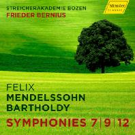 SYMPHONIES 7, 9, 12/ FRIEDER BERNIUS [멘델스존: 교향곡 7, 9, 12번 - 베르니우스]