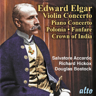 VIOLIN & PIANO CONCERTO, POLONIA, CROWN OF INDIA/ SALVATORE ACCARDO, RICHARD HICKOX, DOUGLAS BOSTOCK [엘가: 바이올린 협주곡, 피아노 협주곡 외 - 아카르도]