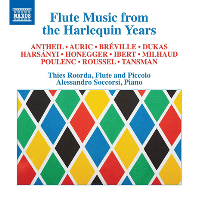 FLUTE MUSIC FROM THE HARLEQUIN YEARS/ ALESSANDRO SOCCORSI, THIES ROORDA [프랑스 플루트 소나타 작품집 - 티스 로르다]