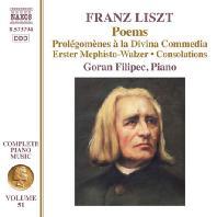 COMPLETE PIANO MUSIC 51 - POEMS/ GORAN FILIPEC [리스트: 피아노 전곡 작품 51집(음시) - 고란 펠리펙]