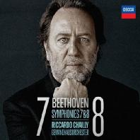 LUDWIG VAN BEETHOVEN - SYMPHONIES 7 & 8/ RICCARDO CHAILLY