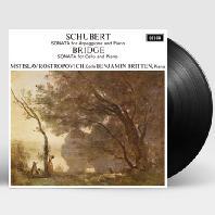 SCHUBERT: SONATA FOR ARPEGGIONE AND PIANO & BRIDGE: SONATA FOR CELLO AND PIANO/ BENJAMIN BRITTEN [로스트로포비치: 슈베르트 아르페지오네 소나타, 브리지: 바이올린 소나타] [ANALOGPHONIC 180G LP]