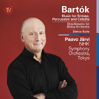MUSIC FOR STRINGS, PERCUSSION AND CELESTA, DIVERTIMENTO FOR STRING ORCHESTRA/ PAAVO JARVI [바르톡: 현과 퍼커션과 첼레스타를 위한 음악, 현을 위한 디베르티멘토 외- 파보 예르비]