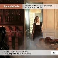 CONCERTO IN D MAJOR & THE RED VIOLIN CONCERTO/ AMANDA FAVIER, ADRIEN PERRUCHON [스트라빈스키: 바이올린 협주곡 & 코릴리아노: 레드 바이올린 - 아만다 파비에]