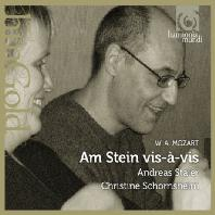 AM STEIN VIS-A-VIS/ CHRISTINE SCHORNSHEIM, ANDREAS STAIER [HM GOLD] [모차르트: 네 손을 위한 소나타와 소곡 - 슈타이어 & 쇤스하임]